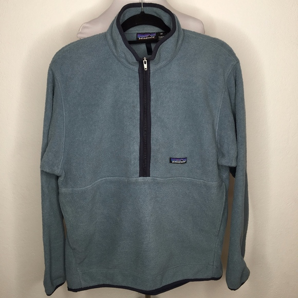 Patagonia Other - Patagonia Synchilla Mens Blue Fleece Zip Pullover